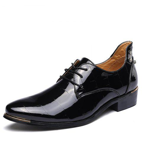 bcffc865fd863c Fashion Men S Business Suits Leather Splicing Pointed Men S Shoes British  Shoes