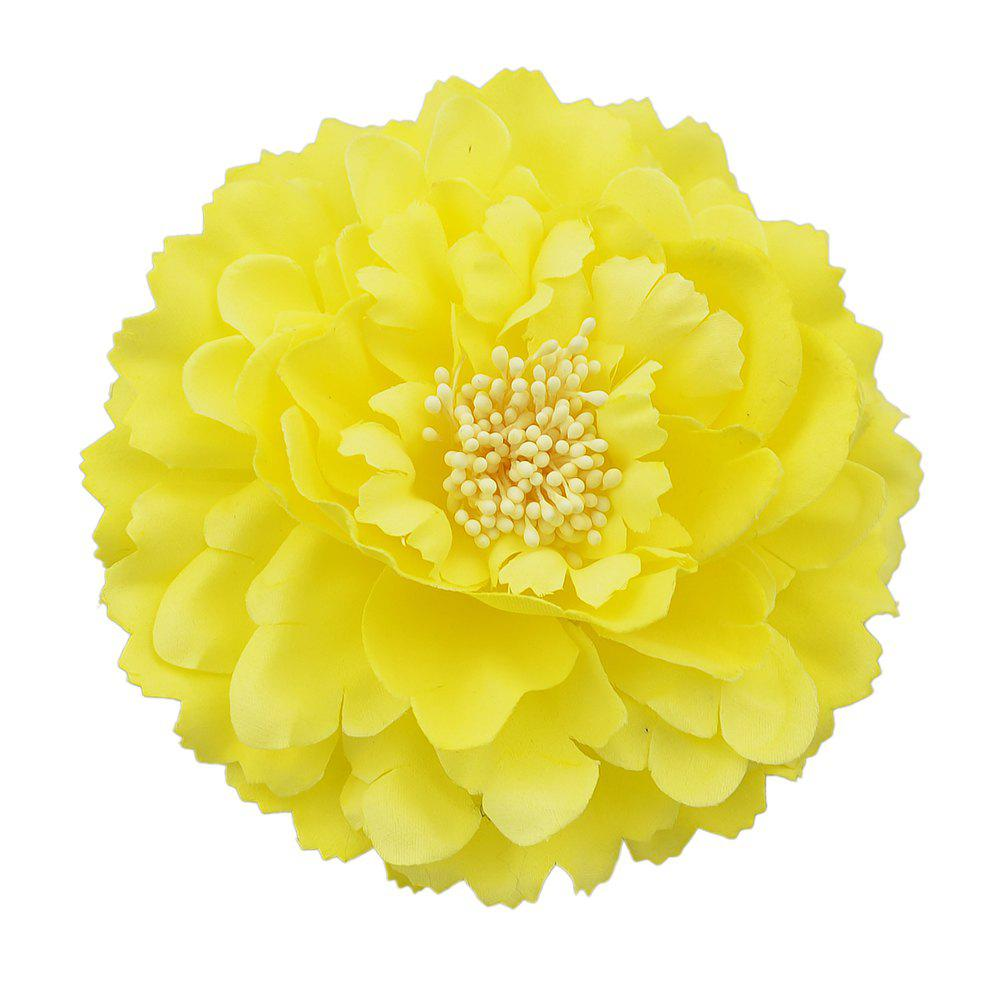Fancy Yellow Artificial Flowers Hair Accessories