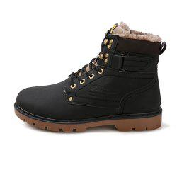 Fur Warm Male Boots For Men Casual Shoes Work Adult Quality Walking Sneakers -
