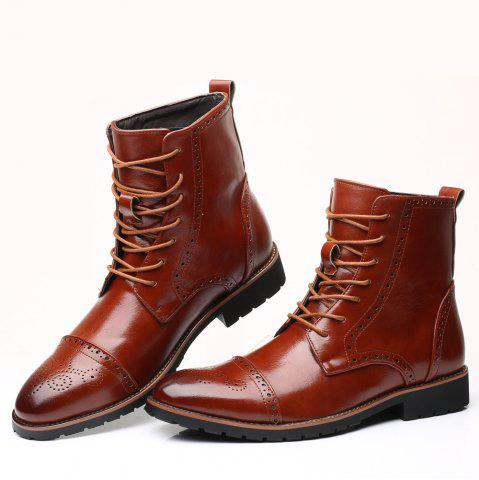 Street Boots Men'S Fashion Version High Leather Boots