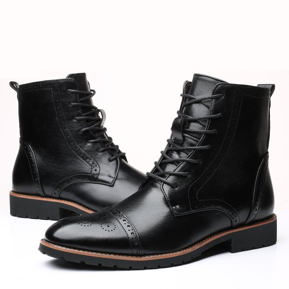 Online Street Boots Men'S Fashion Version High Leather Boots