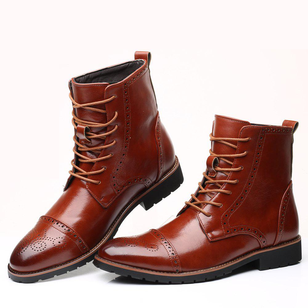 Shops Street Boots Men'S Fashion Version High Leather Boots
