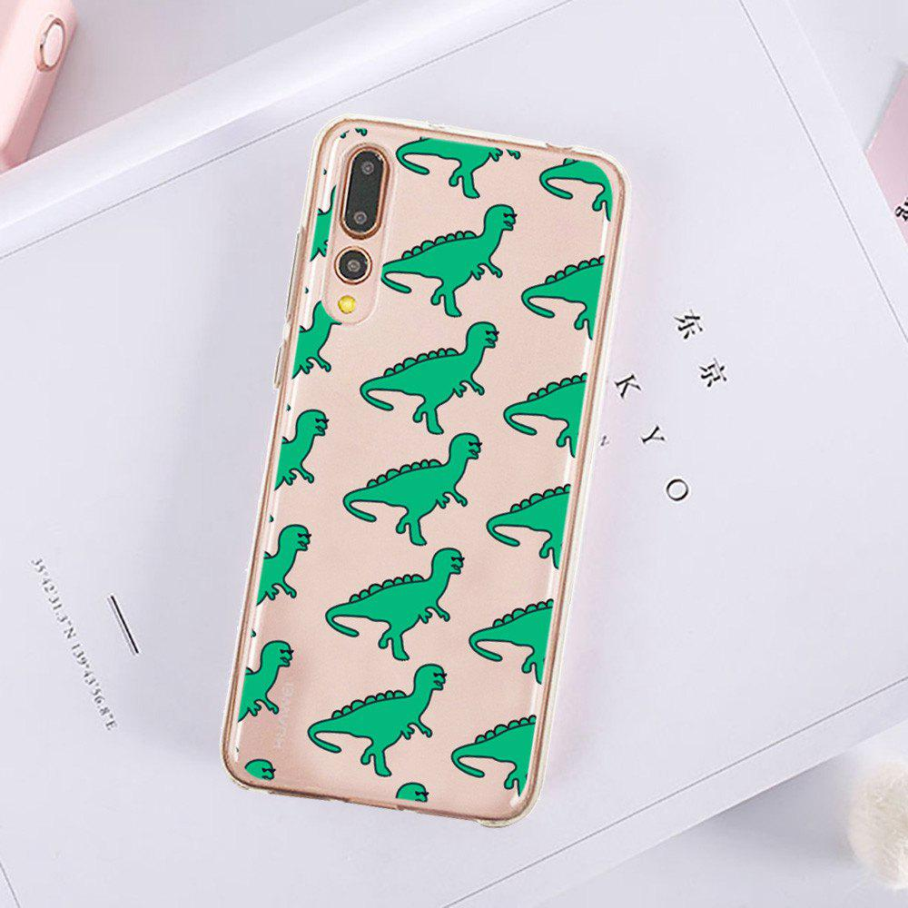 Hot Green Dinosaur Protective Soft TPU Back Shell Case for HUAWEI P20 Pro