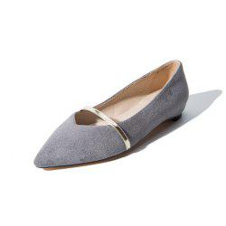 Spring and Summer Pointed Solid Color Set of Flat Flat Casual Shoes -