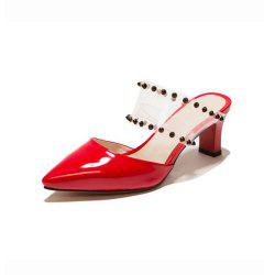 Spring and Summer Pointed Rhinestones with High Heel Sandals and Slippers -