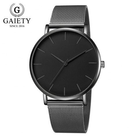 GAIETY G581 Women'S Watch Simple Ultra-Thin Large Dial Mesh with Quartz Watch