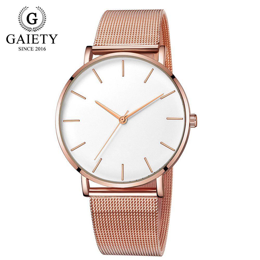 Affordable GAIETY G581 Women'S Watch Simple Ultra-Thin Large Dial Mesh with Quartz Watch