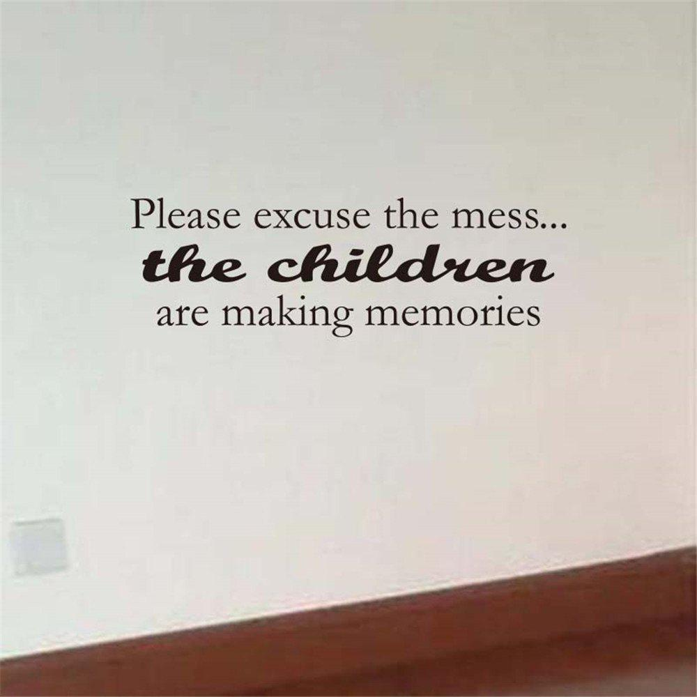 Please Excuse The Mess Art Apothegm Home Decal Wall Sticker