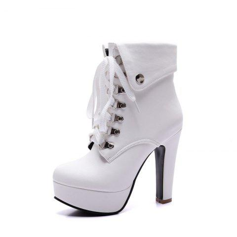 Fashionable High Heel Studded Ankle Boots for Ladies
