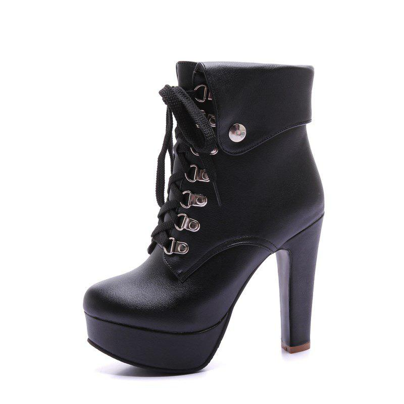 Affordable Fashionable High Heel Studded Ankle Boots for Ladies
