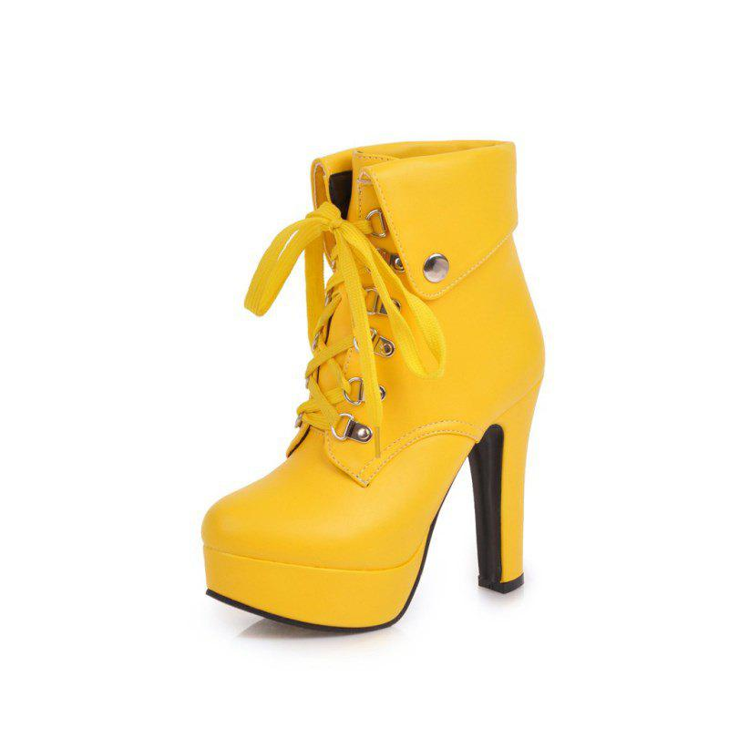 Chic Fashionable High Heel Studded Ankle Boots for Ladies