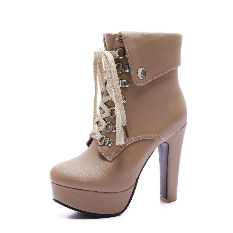 New Fashionable High Heel Studded Ankle Boots for Ladies