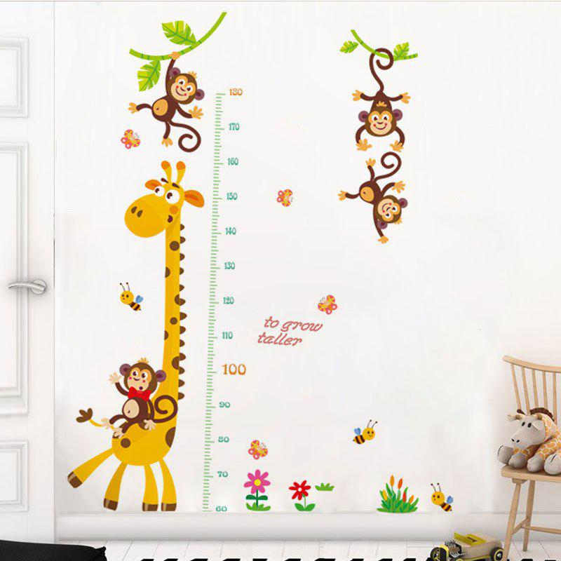 Giraffe Measures Your Height Removable Waterproof PVC Wall Stickers for Home