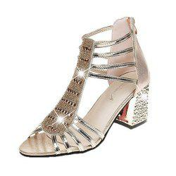 Summer Womens Sandals with Diamond and High Heels -
