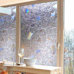 Creative 3D Geometry Printing PVC Window Film Wall Sticker -