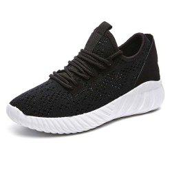 Spring and Summer Knitted Mesh Breathable Flat Bottom Non-Slip Shoes -