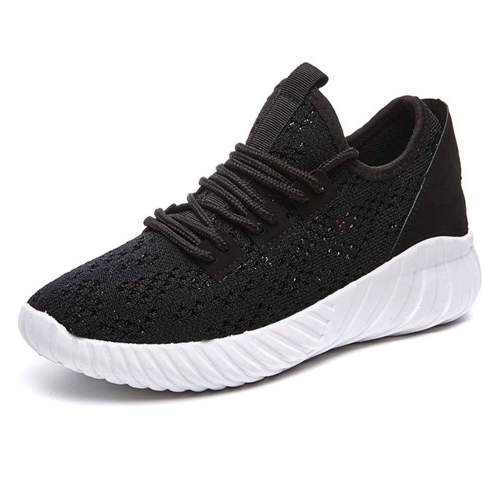 Fancy Spring and Summer Knitted Mesh Breathable Flat Bottom Non-Slip Shoes
