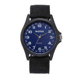 Men'S Fashion Nylon Quartz Wrist Watch -