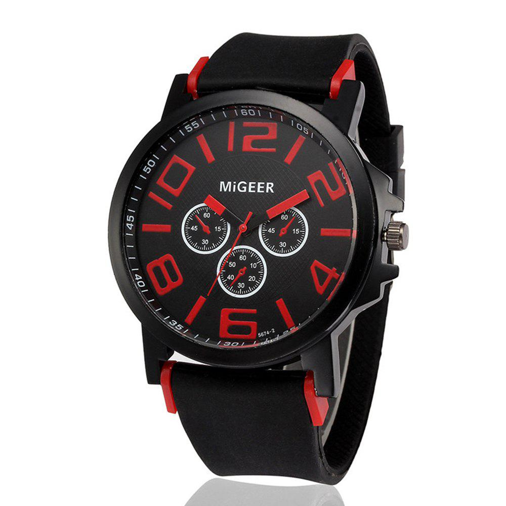 Sale Men'S Fashion Silica Gel Quartz Wrist Watch