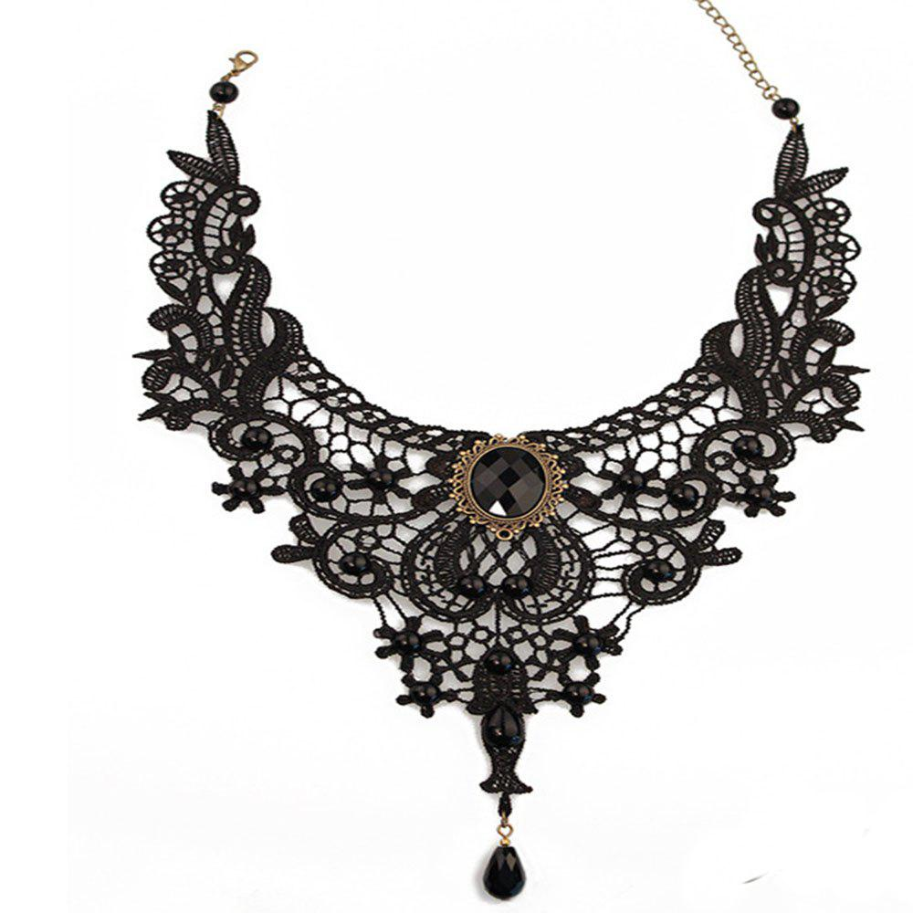 Trendy Lace Driled Lady's Clavicle Chain