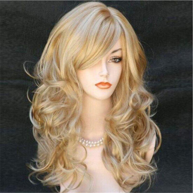 Store Golden Long Curly Cosplay Wig