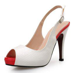 Sweet Lady High Heel Sexy Temperament Fish Mouth Women'S Shoes -
