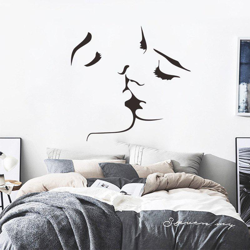 Lovers Men and Women Kissing Living Room Bedroom Decorative Stickers