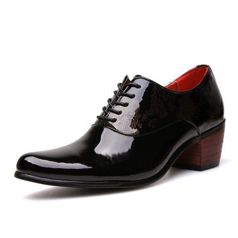 Men Formal Shoes Man Pointed Toe Patent Leather Shoes Men Business Shoes