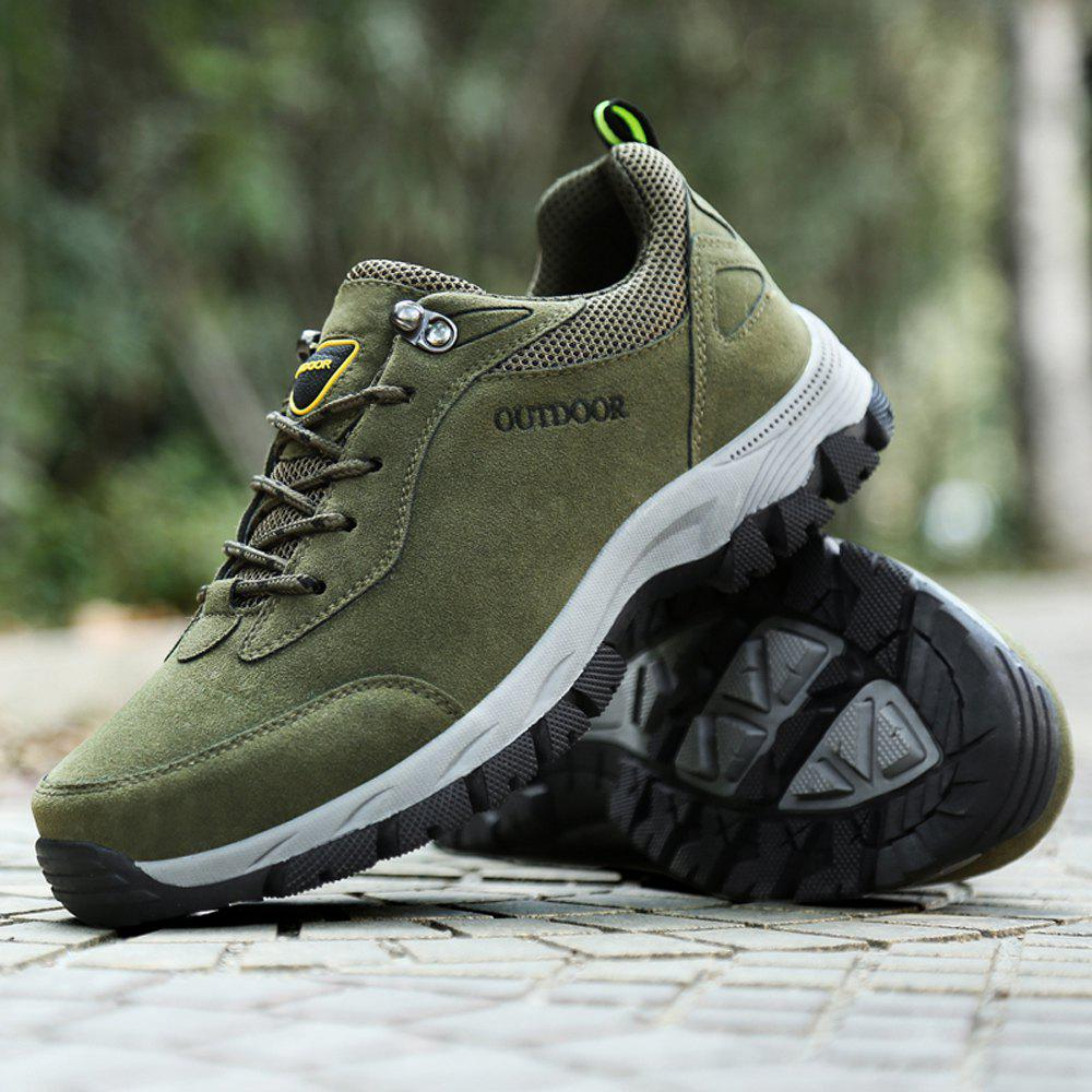 Cheap Men Hiking Shoes Suede Leather Waterproof Outdoor Trekking Shoes