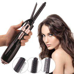 4 in 1 Multifunctional Comb Levels Adjustment Hair Curler Straightener Dryer Set -