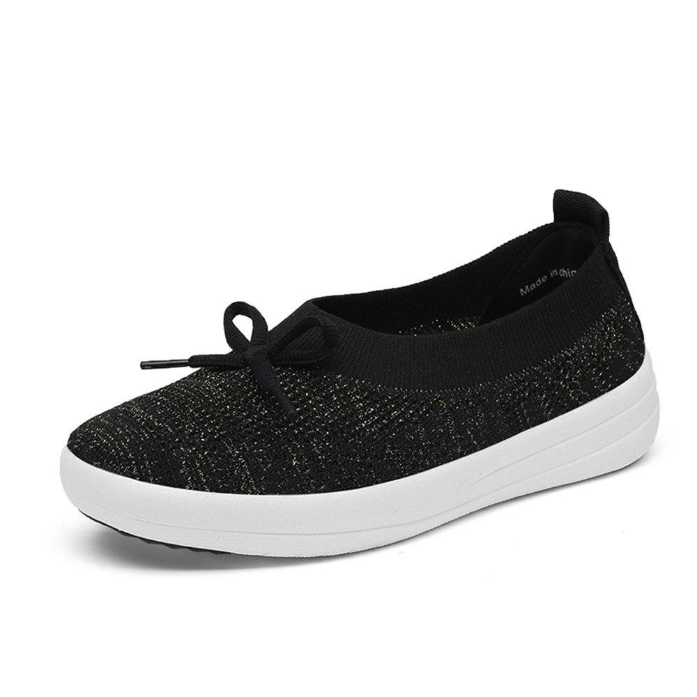 New Women'S Spring and Summer Flying Woven Casual Shoes
