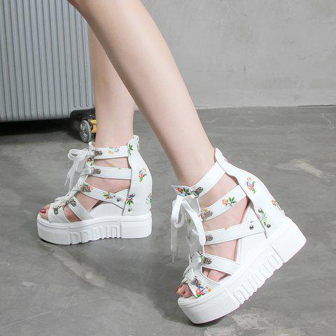 Thick Bottom Slope with Belted Female Sandals