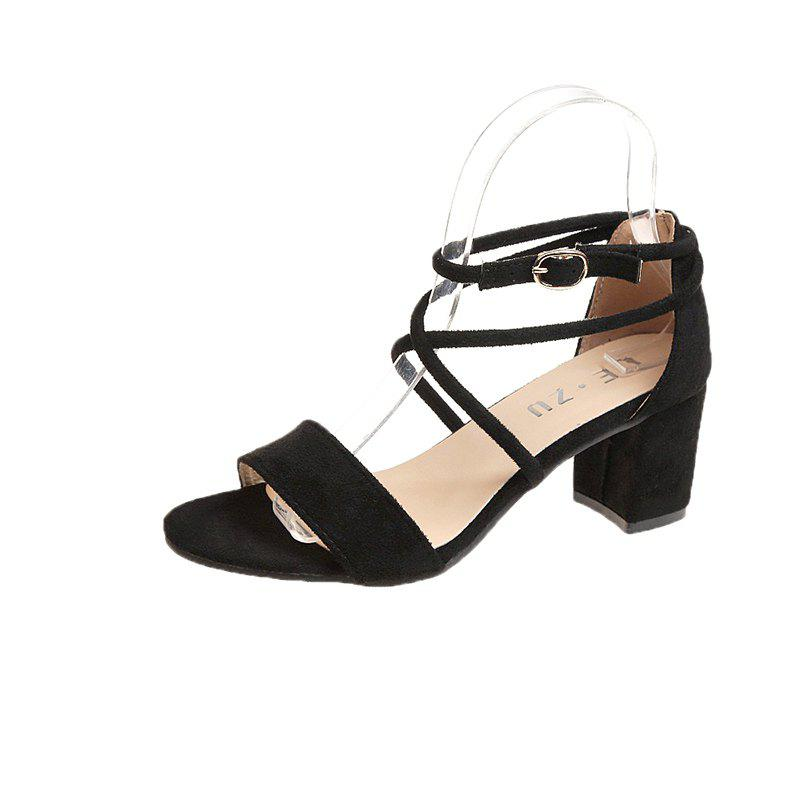Online Rude and Cross Tie and Buckle Female Sandals