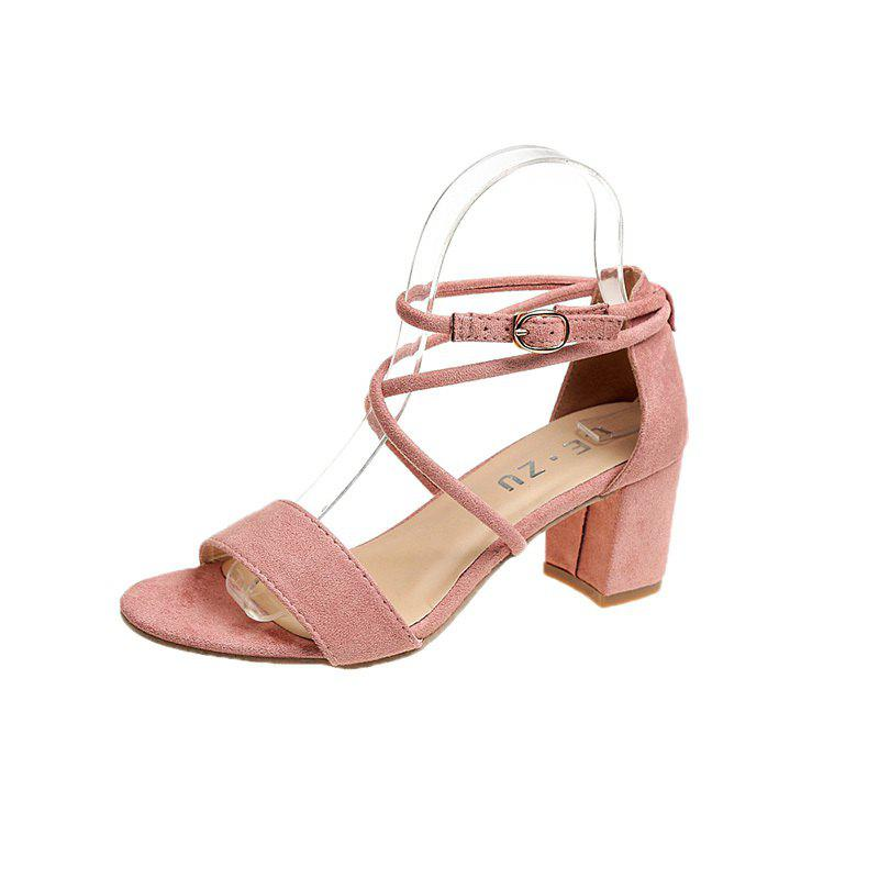 Unique Rude and Cross Tie and Buckle Female Sandals