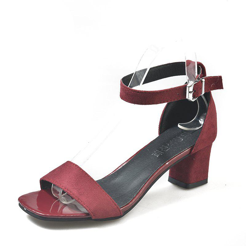 A One-Piece Buckle of Fashion High-Heeled Sandals