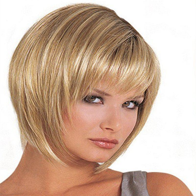 Trend Female Short Hair Fluffy Face Wig