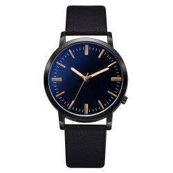 Xr3254 Men'S Business PU Watch Fashion Sports Ultra-Thin Quartz Watch -