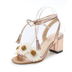Fashion High Heel Ankle Strap Female Sandals L1 -