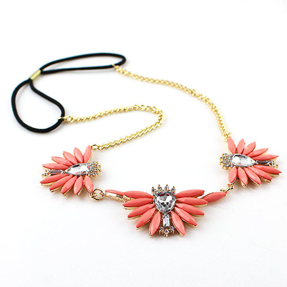 Outfit Fashion Pink Flower Hair Band