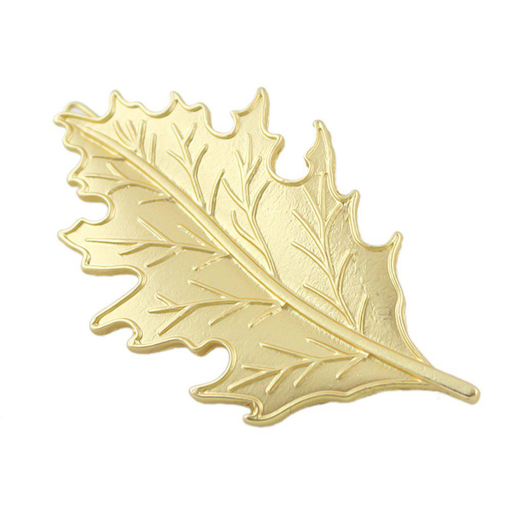 Outfit Fashion Golden Printed Texture Leaf Hairpin