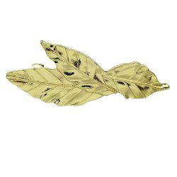 Fashionable Golden Leaf Texture Hairpin -