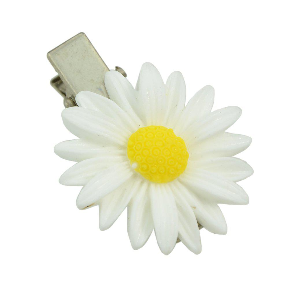 Outfit Fashionable White Sunflower Hairpin