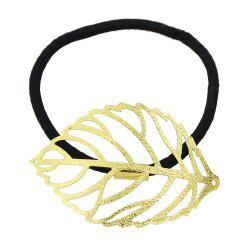 Fashionable Golden Hollow Leaf Hair Rings -