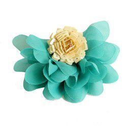 Fashionable Green Satin Flower Hairpin -