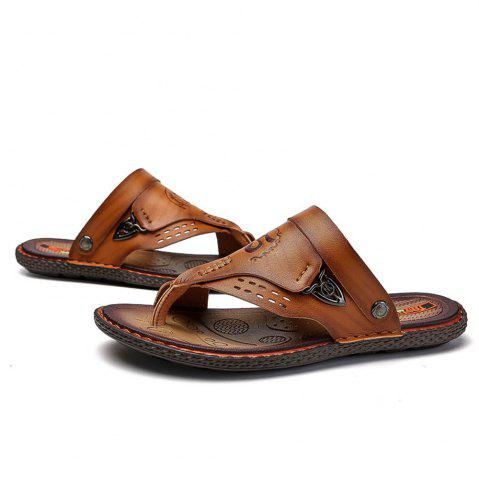 Men's Sandals Genuine Leather Beach Shoes Male Two Ways To Wear Sandales