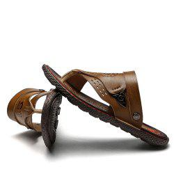 Men's Sandals Genuine Leather Beach Shoes Male Two Ways To Wear Sandales -