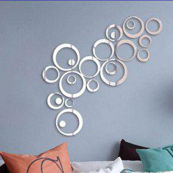 Crystal Acrylic Mirror Circle Wall Stickers Living Room Decoration -