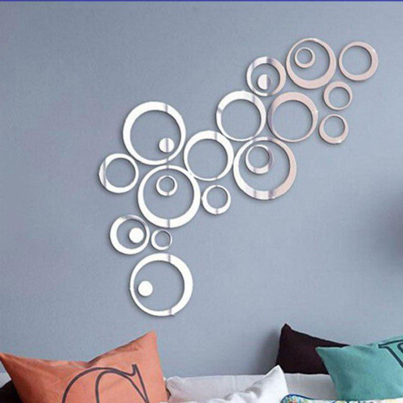 Hot Crystal Acrylic Mirror Circle Wall Stickers Living Room Decoration