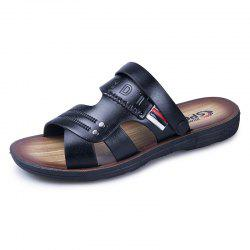 ZEACAVA Men's Leather Fashion Outdoor Beach Shoes -