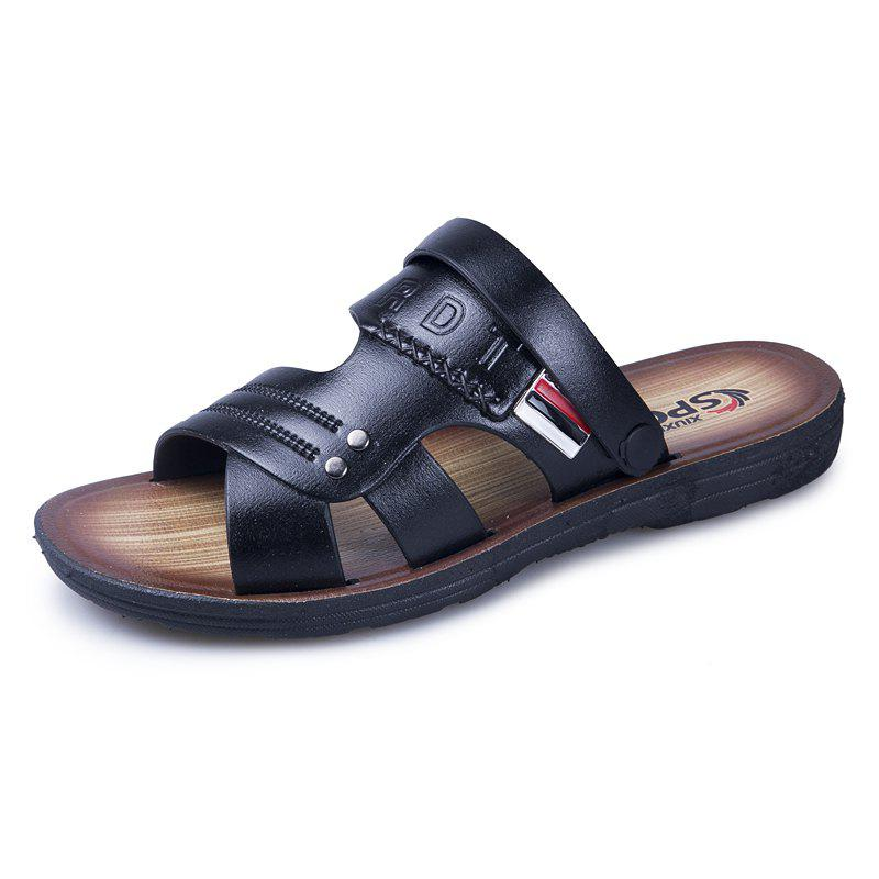 Store ZEACAVA Men's Leather Fashion Outdoor Beach Shoes
